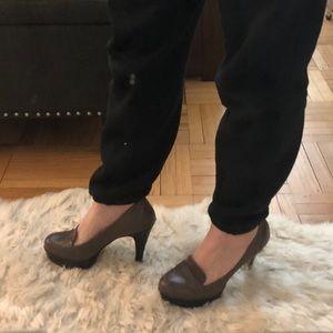 Nine West loafer style platform heels, 5 1/2